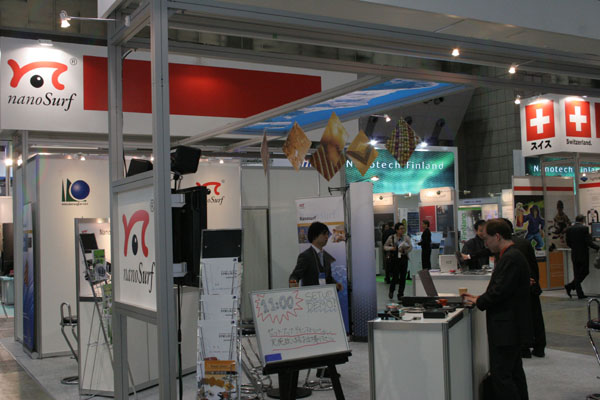 The Nanosurf booth at the nano tech Tokyo 2008