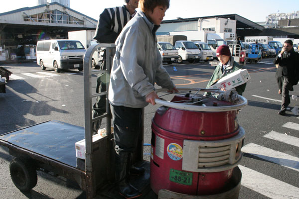 Transportation at Tsukiji