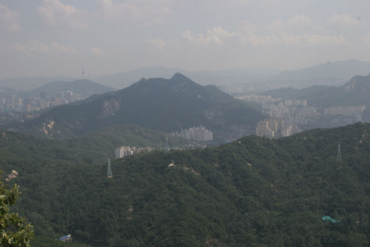 Seoul from Bukhansan National Park