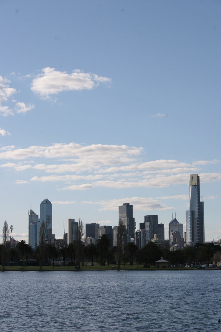 Melbourne CBD from St. Albert Park Lake