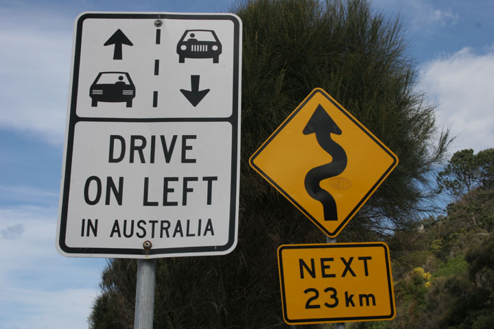 Australian Road sign - Drive on Left