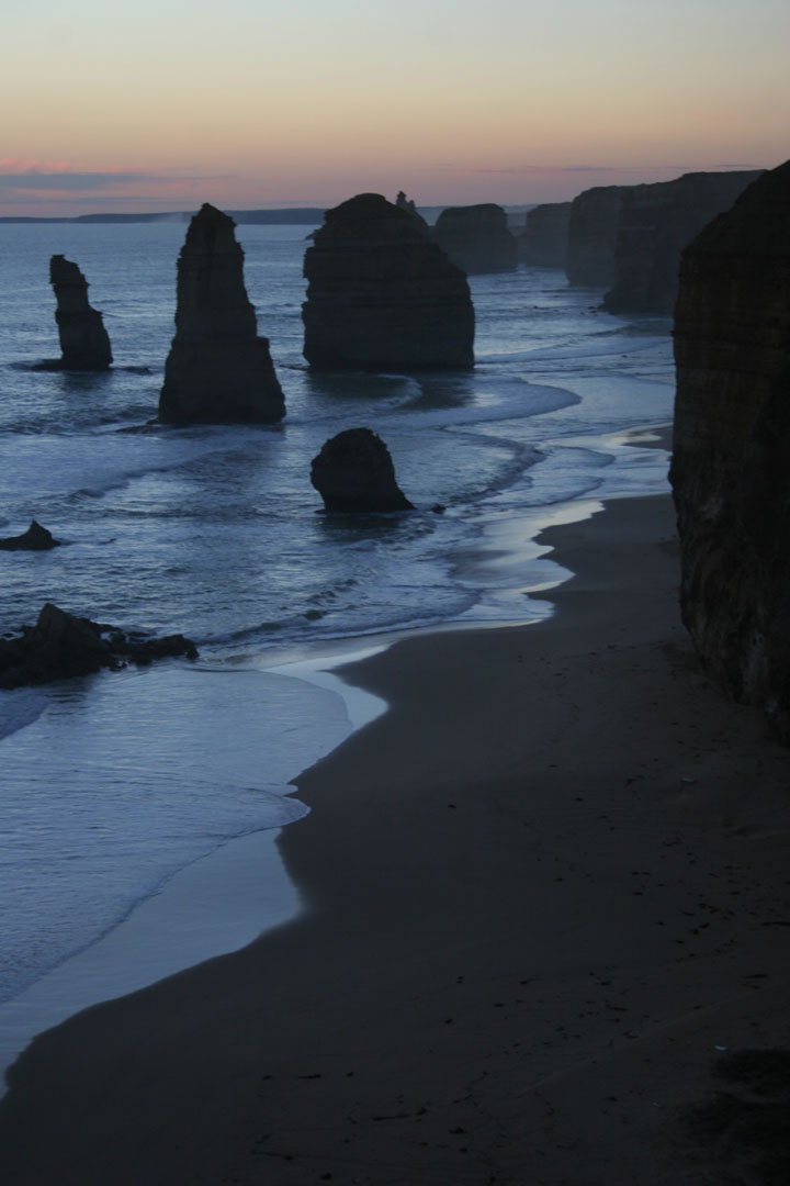 Twelve Apostles at dusk Great Ocean Road