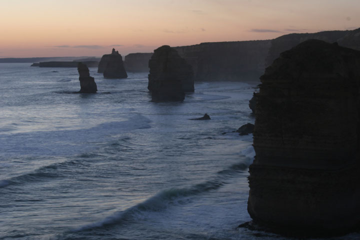 Twelve Apostles at gloaming Great Ocean Road