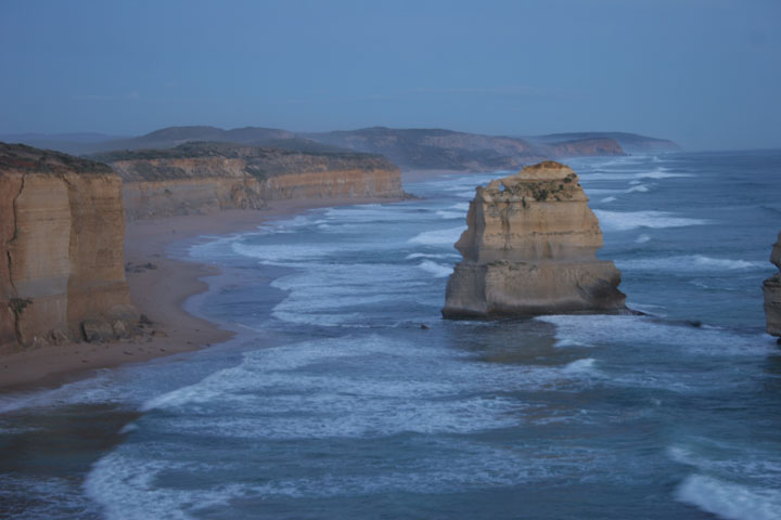 Twelve Apostles blue hour looking east Great Ocean Road