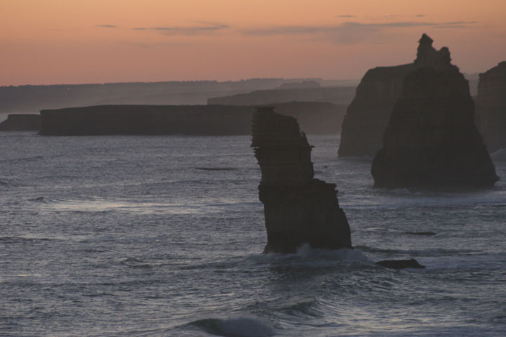 Twelve Apostles in the evening glow