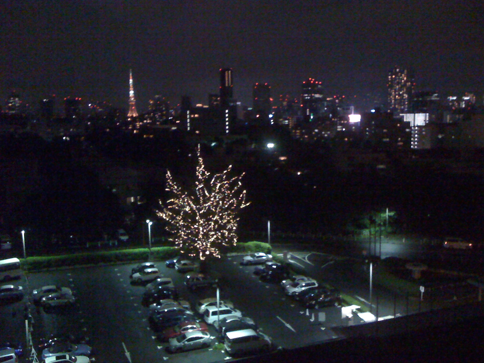 The view from the Grand Prince Hotel Takanawa
